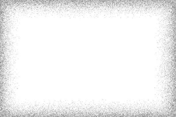 silber vektor glitzer rahmen - silber stock-grafiken, -clipart, -cartoons und -symbole