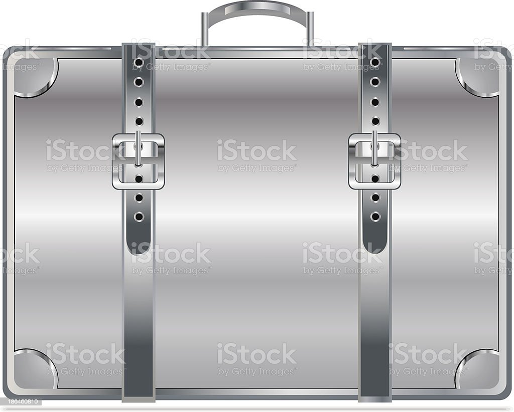Silver vintage briefcase royalty-free stock vector art