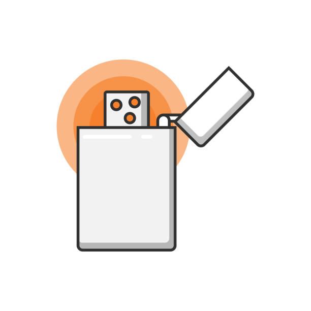 silber jahrgang leichter. - feuerzeuggas stock-grafiken, -clipart, -cartoons und -symbole