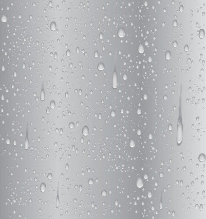 Silver water droplet