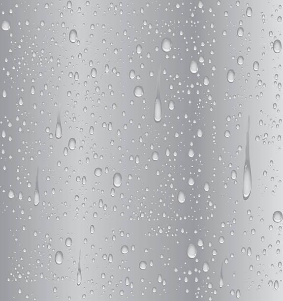 シルバーが渦巻く水滴 - 水滴点のイラスト素材/クリップアート素材/マンガ素材/アイコン素材