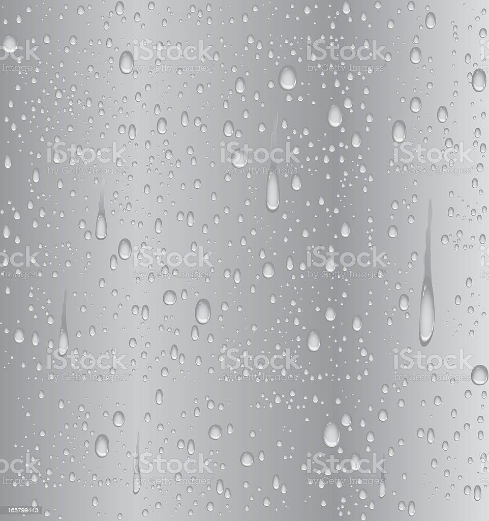 Agua de las gotitas plata - ilustración de arte vectorial