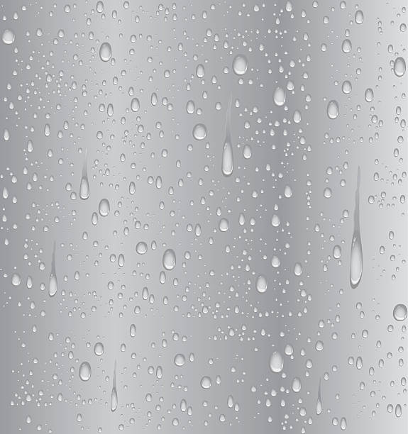 Silver water droplet vector art illustration