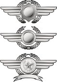 Silver winged insignias