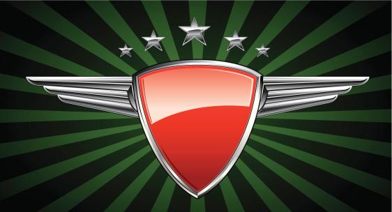 Silver Winged Racing Emblem