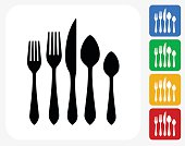 Silverware Set Icon Flat Graphic Design