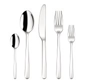 A set of vector tableware or silverware with clipping path which contains spoon, fork, knife, and tea spoon