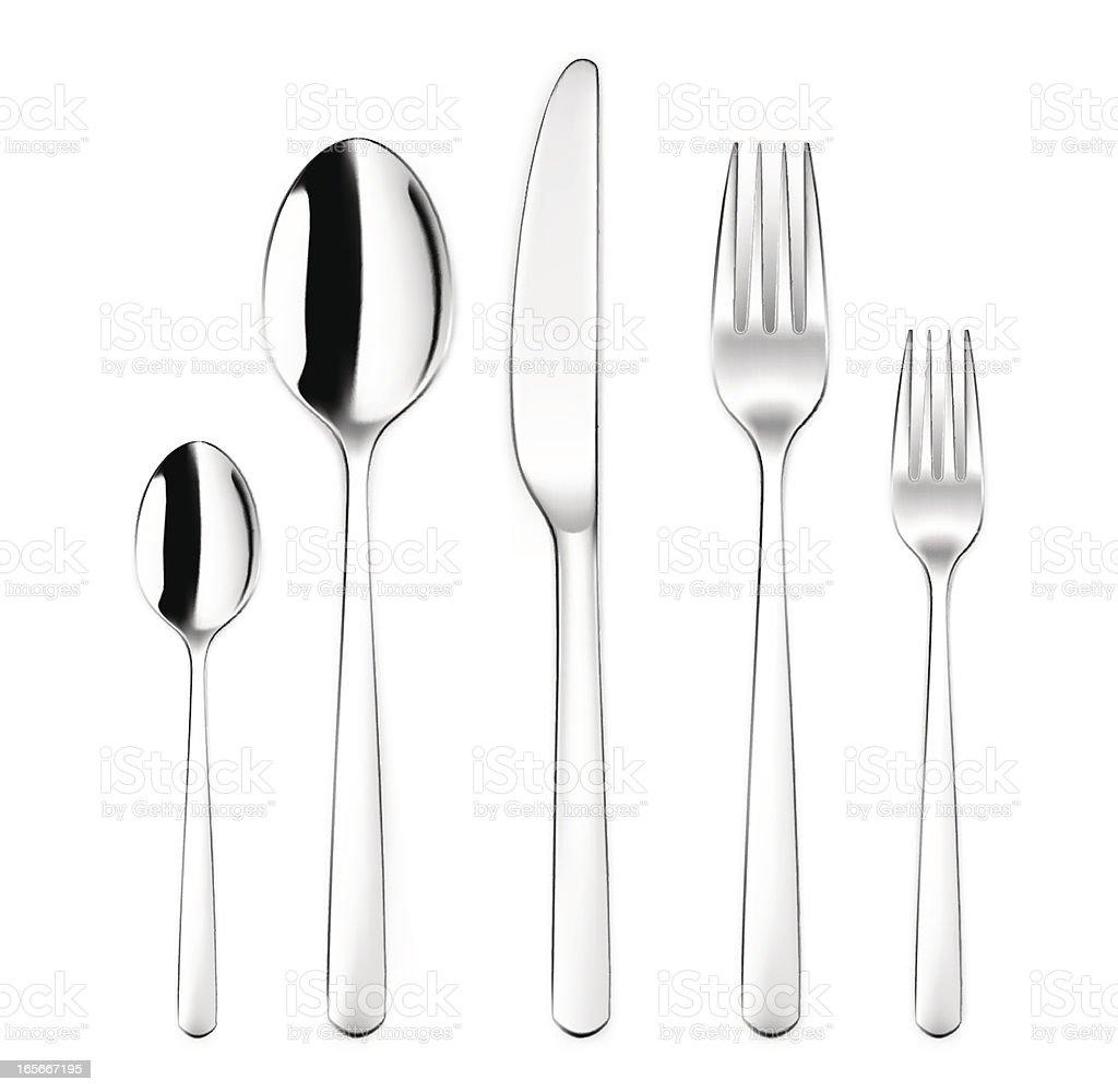 Silverware Set with Spoon, Fork, Kinife vector art illustration