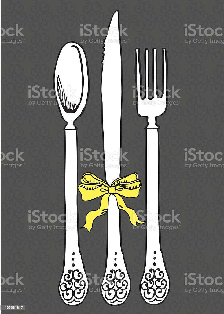 silverware setting royalty-free stock vector art