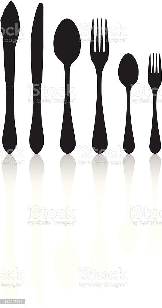 Silverware royalty-free silverware stock vector art & more images of black color