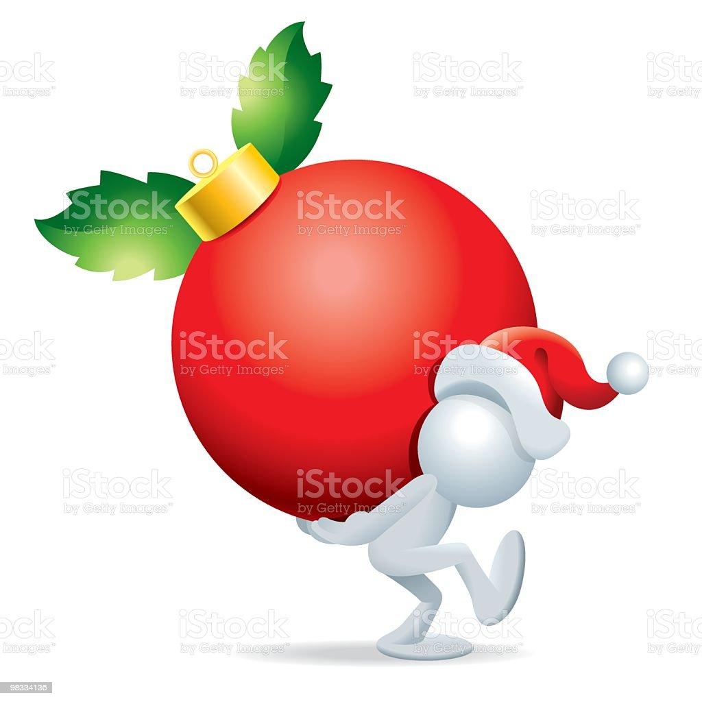 Sim man with Christmas Ball royalty-free sim man with christmas ball stock vector art & more images of adult