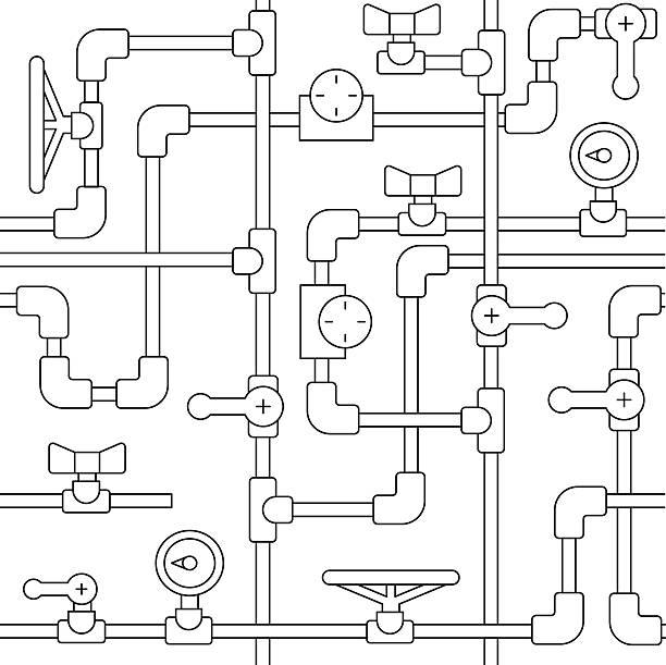 simles pattern pipe - 配管工点のイラスト素材/クリップアート素材/マンガ素材/アイコン素材