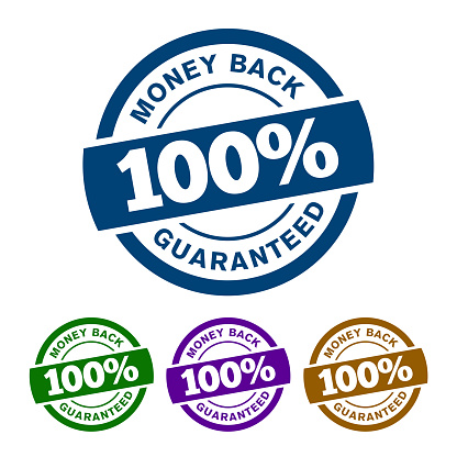 100% MONEY BACK GUARANTEED badge will ensure that there is a refund policy for you, if you think the product is not for you at all.