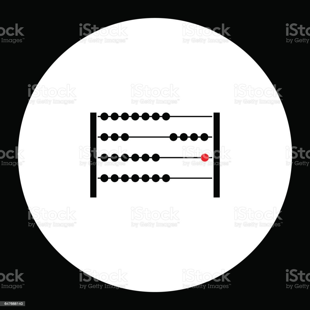 simple abacus for computing black icon eps10 vector art illustration