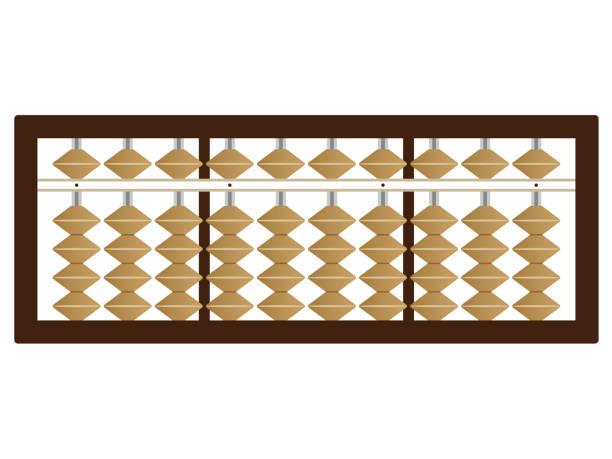 bildbanksillustrationer, clip art samt tecknat material och ikoner med enkla abacus illustration - abakus