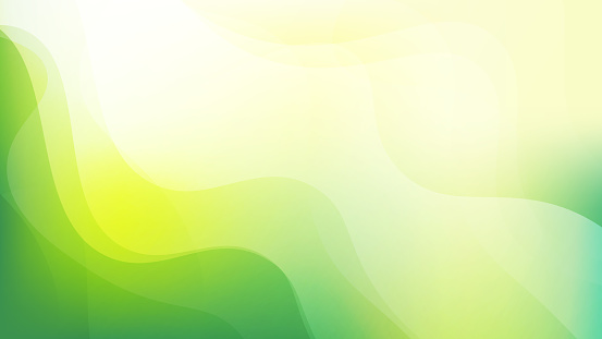 Simple abstract Green and yellow color background