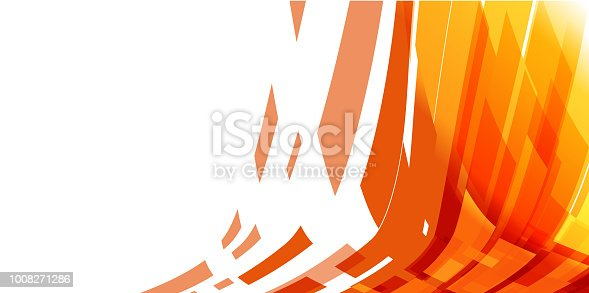 Simple abstract orange and yellow color background