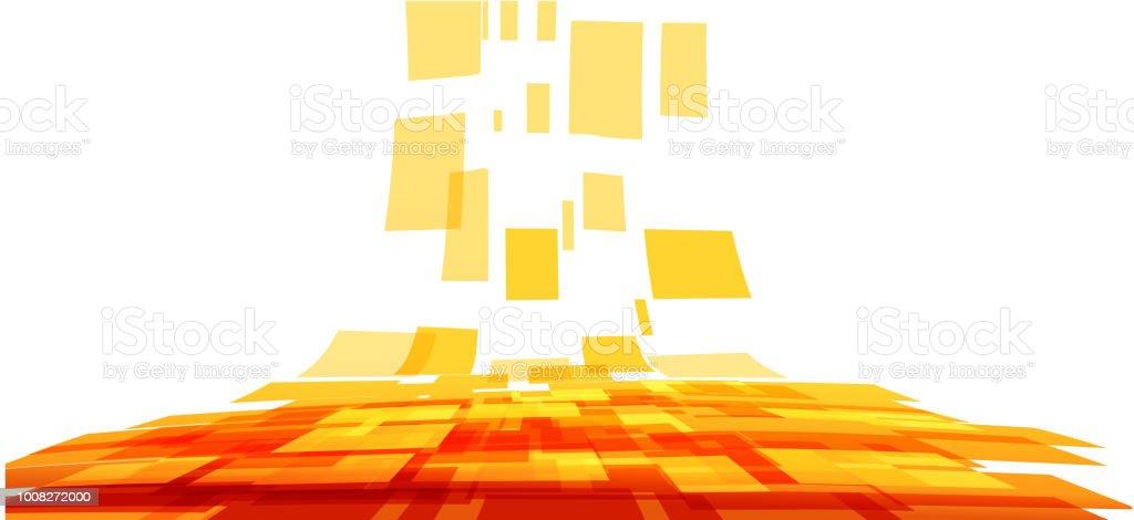Fond Abstrait Couleurs Orange Et Jaune Vecteurs libres de droits et plus  d\'images vectorielles de Abstrait