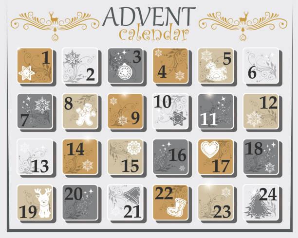 Einfacher Adventskalender – Vektorgrafik