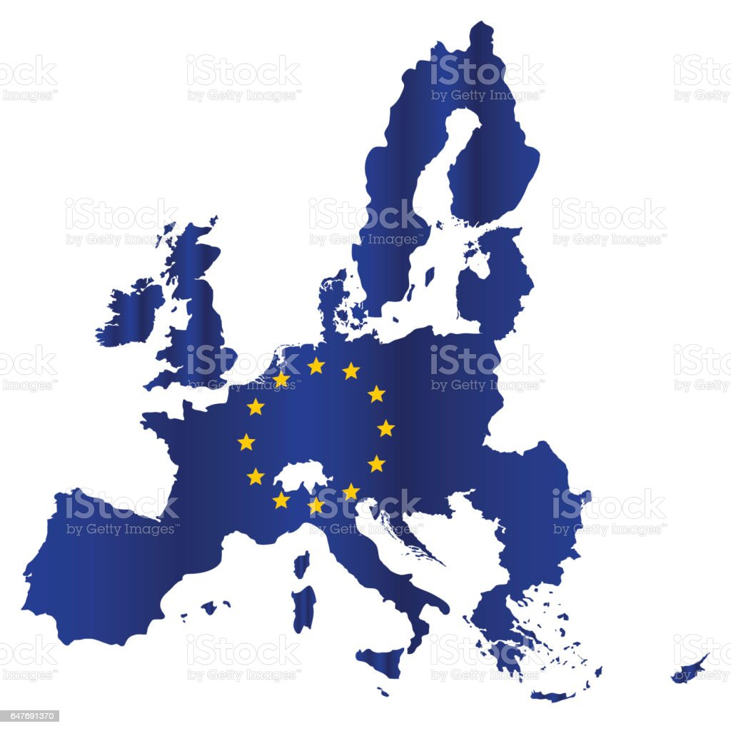 Picture of: Simple All European Union Countries In One Map Eps10 Stock Illustration Download Image Now Istock