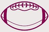 Simple American Football Ball