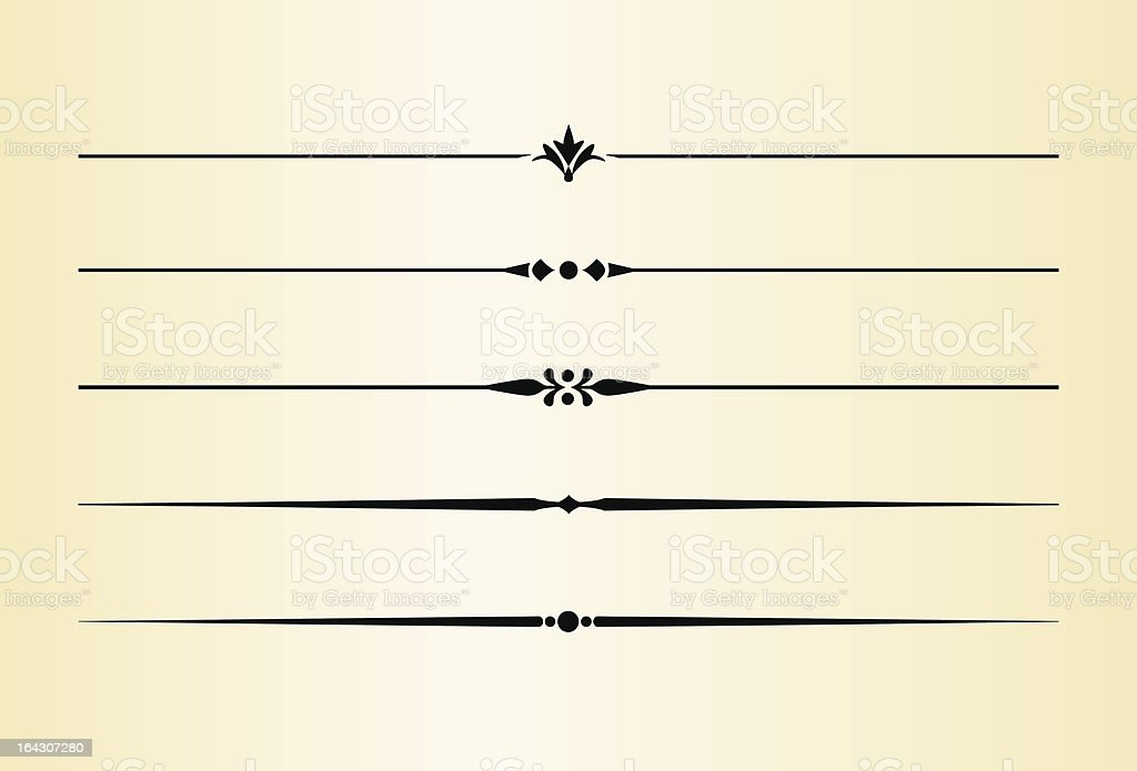 Simple and elegant dividing lines vector art illustration