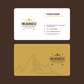 Simple and Modern Business Card Design in vector, Vintage Mountain Expedition