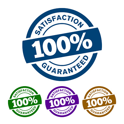 100% SATISFACTION GUARANTEED badge will help the customer to understand that this product is well made and it will definitely meet their high expectation of usage.