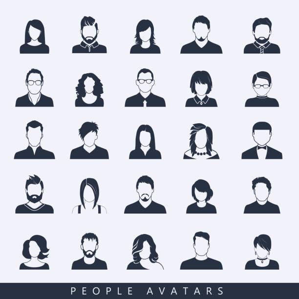bildbanksillustrationer, clip art samt tecknat material och ikoner med enkla avatar ikoner - profile photo