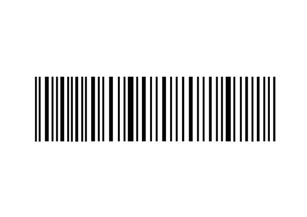 Simple bar code vector art illustration