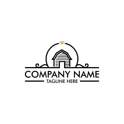 Simple Barn with Floral Wedding Banner design