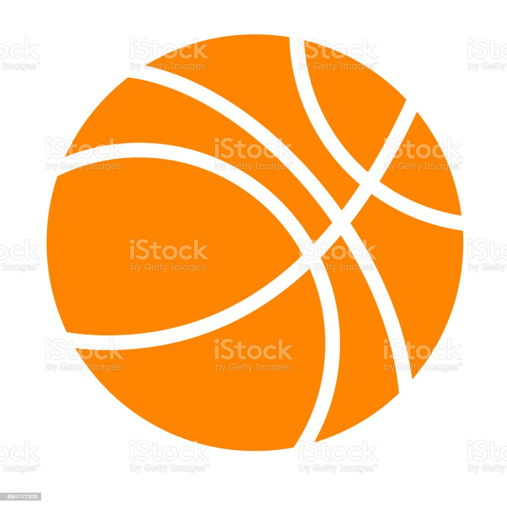 Simple Basket Ball vector art illustration