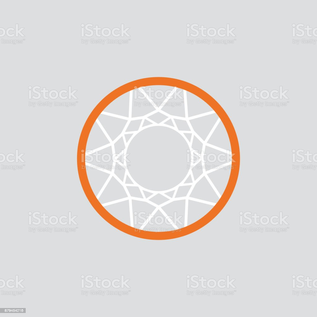 Simple Basketball basket and net. vector art illustration