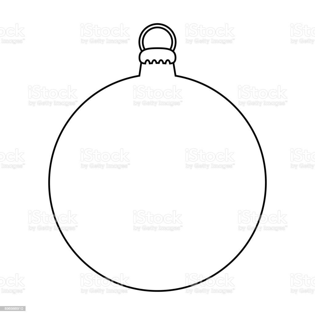 Ilustración de Bosquejo Sencillo Adorno Para El árbol De Navidad ...