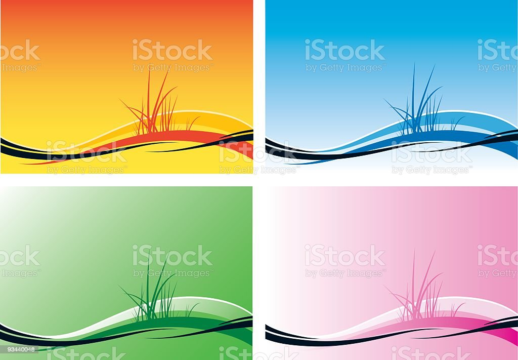 Simple Beach Horizon Backgrounds vector art illustration