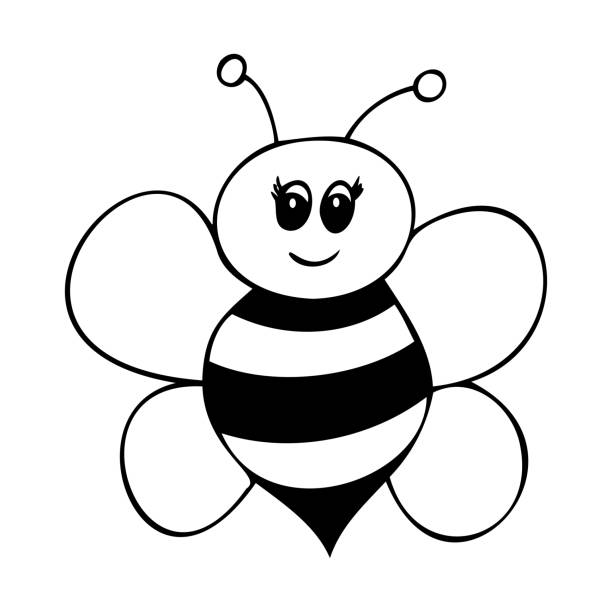 63 Bumble Bee Coloring Page Illustrations Clip Art Istock