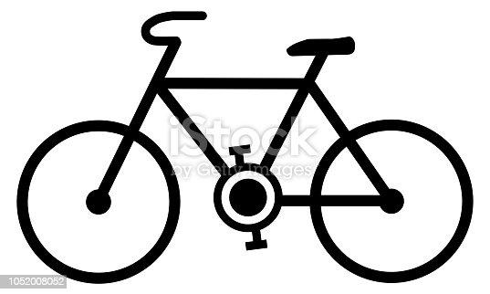 Fahrrad Zeichnung Einfach : einfaches fahrradsymbol schwarze linien fahrrad zeichnen ~ Watch28wear.com Haus und Dekorationen