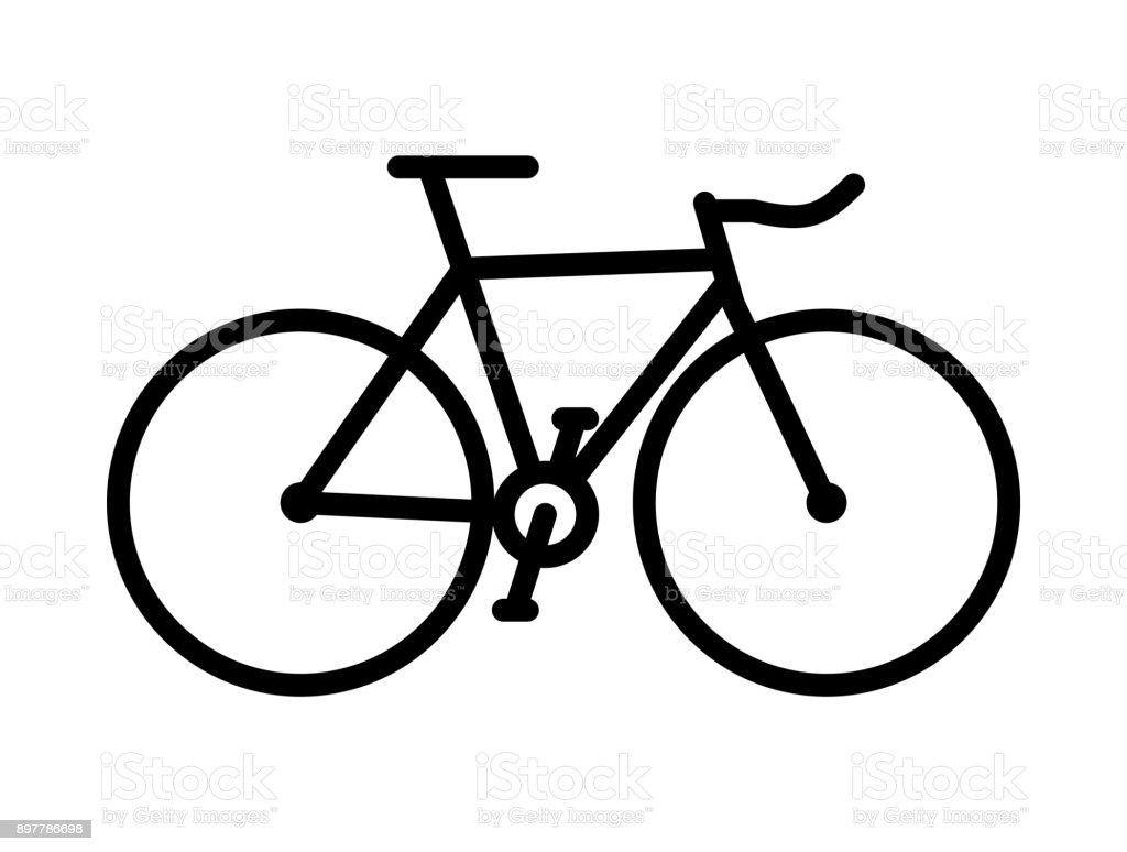 Simple bicycle illustration - photo#51