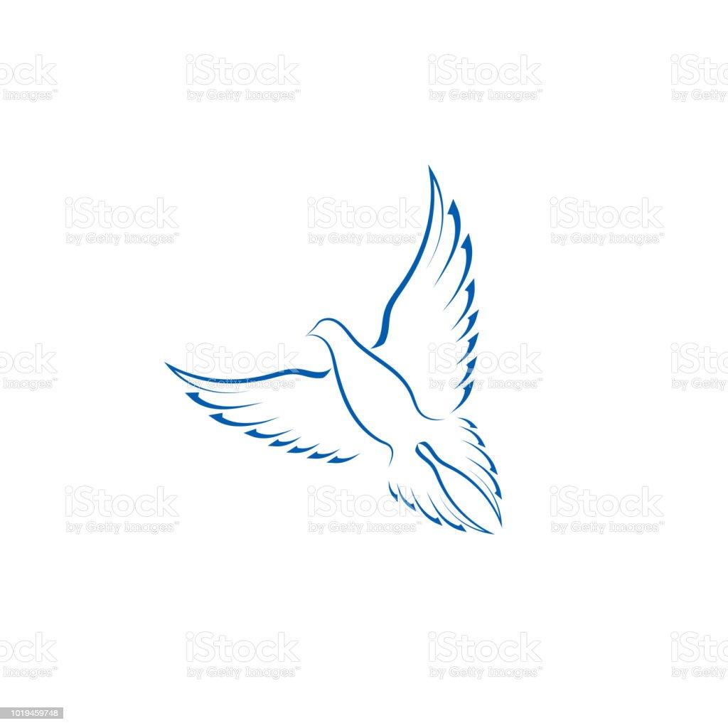 簡単な鳥のアイコンロゴ ベクター デザイン要素 アイコンのベクター