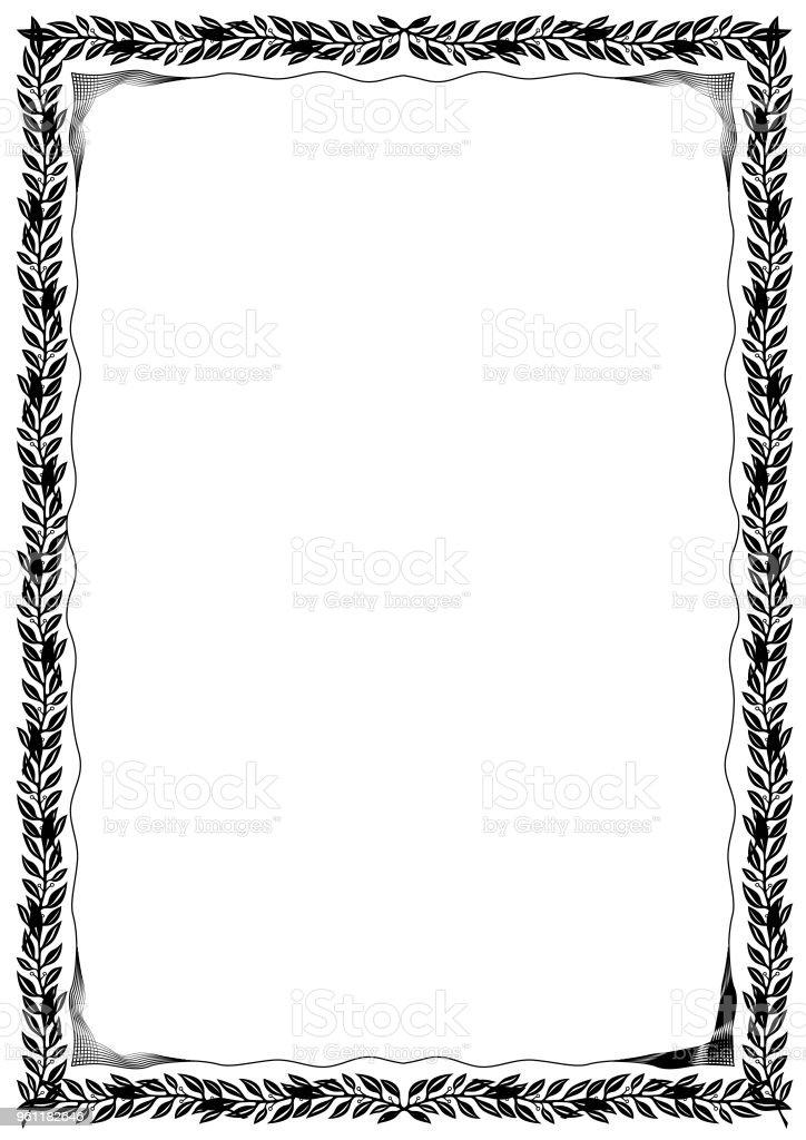 simple black and white certificate frame border stock vector art