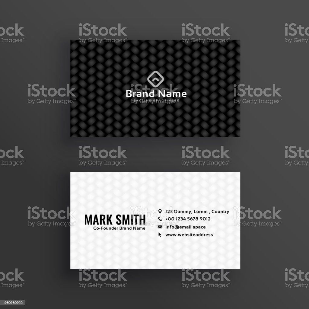 Simple black and white dark business card design stock vector art office india abstract business corporate business simple black and white dark business card design royalty free reheart Choice Image