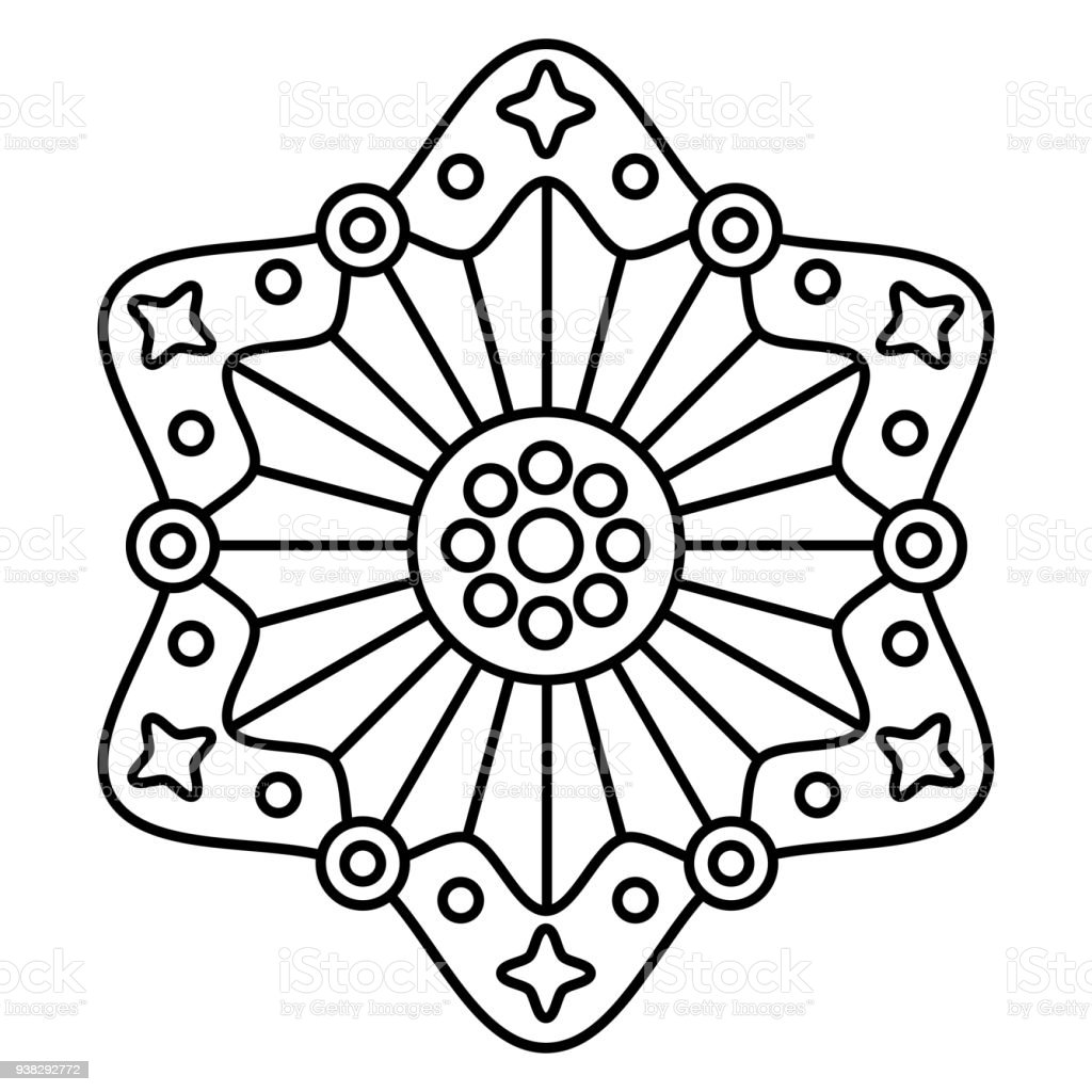 simple black and white floral mandala pattern stock vector art more images of abstract. Black Bedroom Furniture Sets. Home Design Ideas
