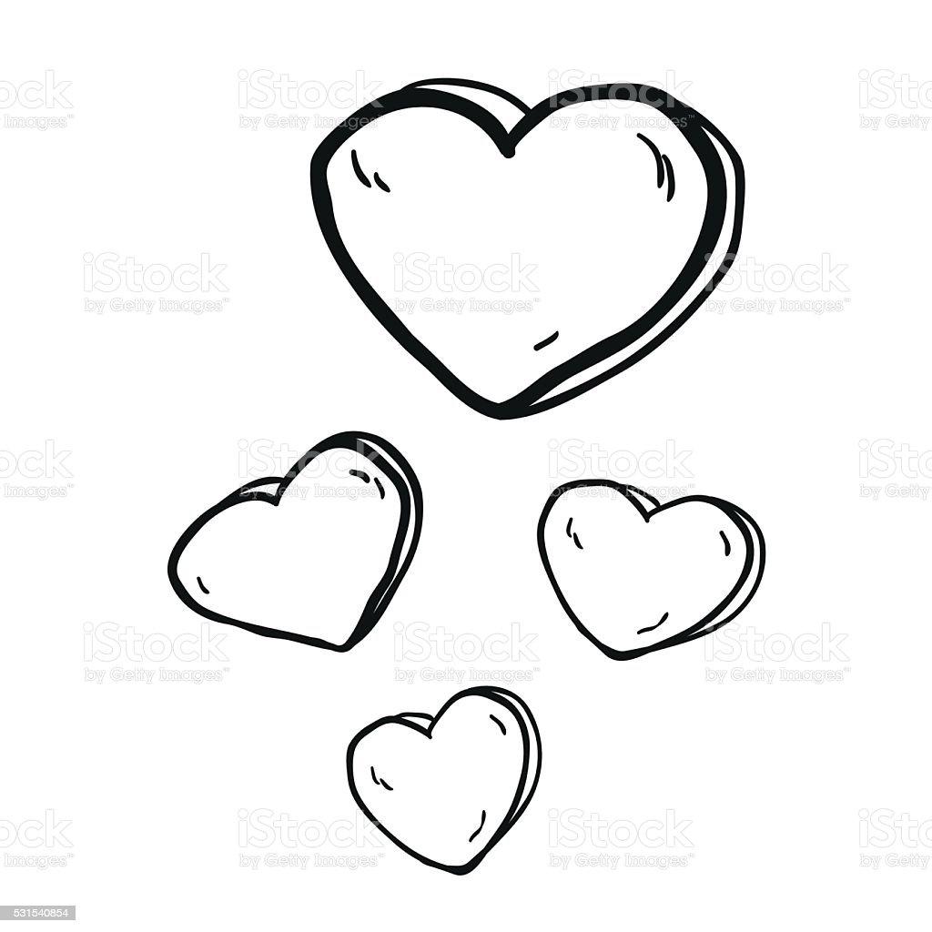 Simple Illustration En Noir Et Blanc Dessinée à Main Levée