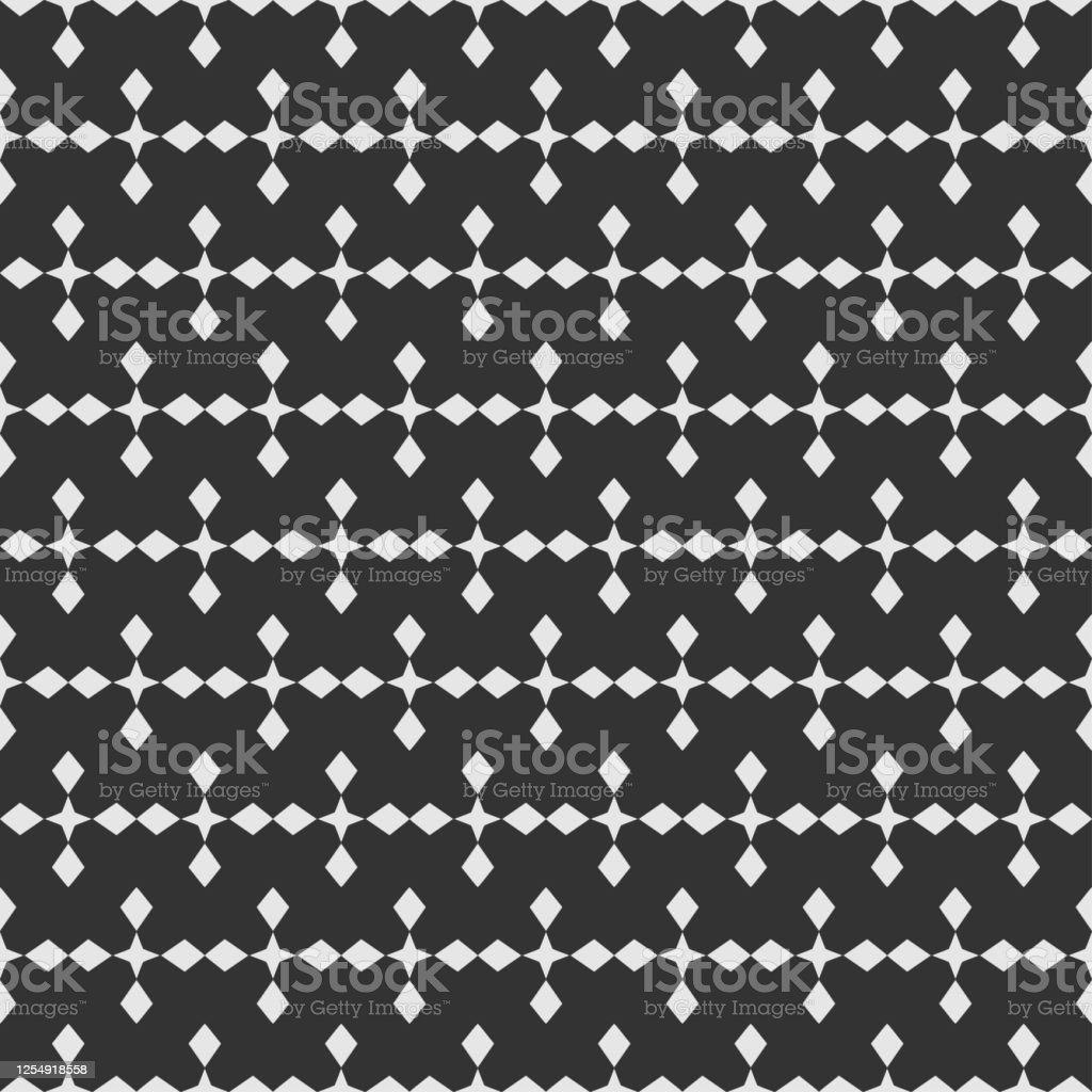 ファブリックタイルインテリアデザインや壁紙のためのシンプルな黒と白の幾何学模様ベクターの背景 イラストレーションのベクターアート素材や画像を多数ご用意 Istock
