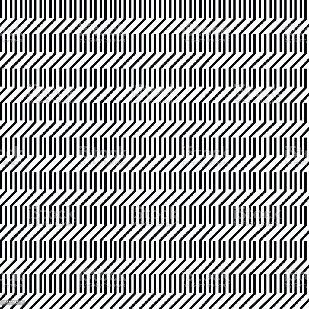 Einfaches Schwarzweiß Monochrome Geometrische Muster Hintergrund