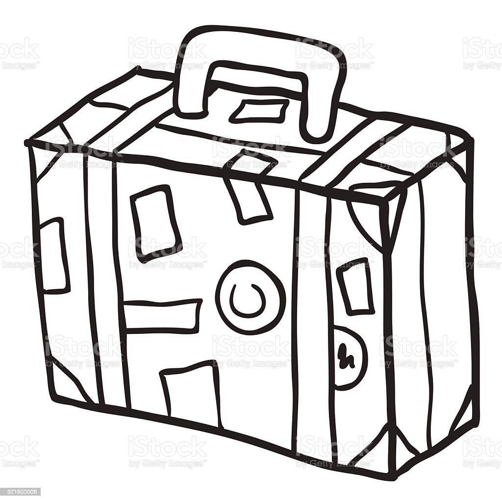 Koffer Clipart Schwarz Weiß
