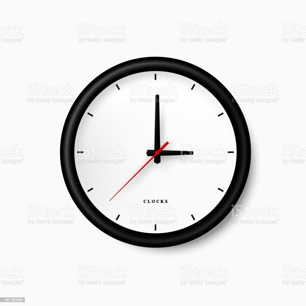 royalty free clock white background clip art vector images rh istockphoto com free clock vector download free cloak pattern vector
