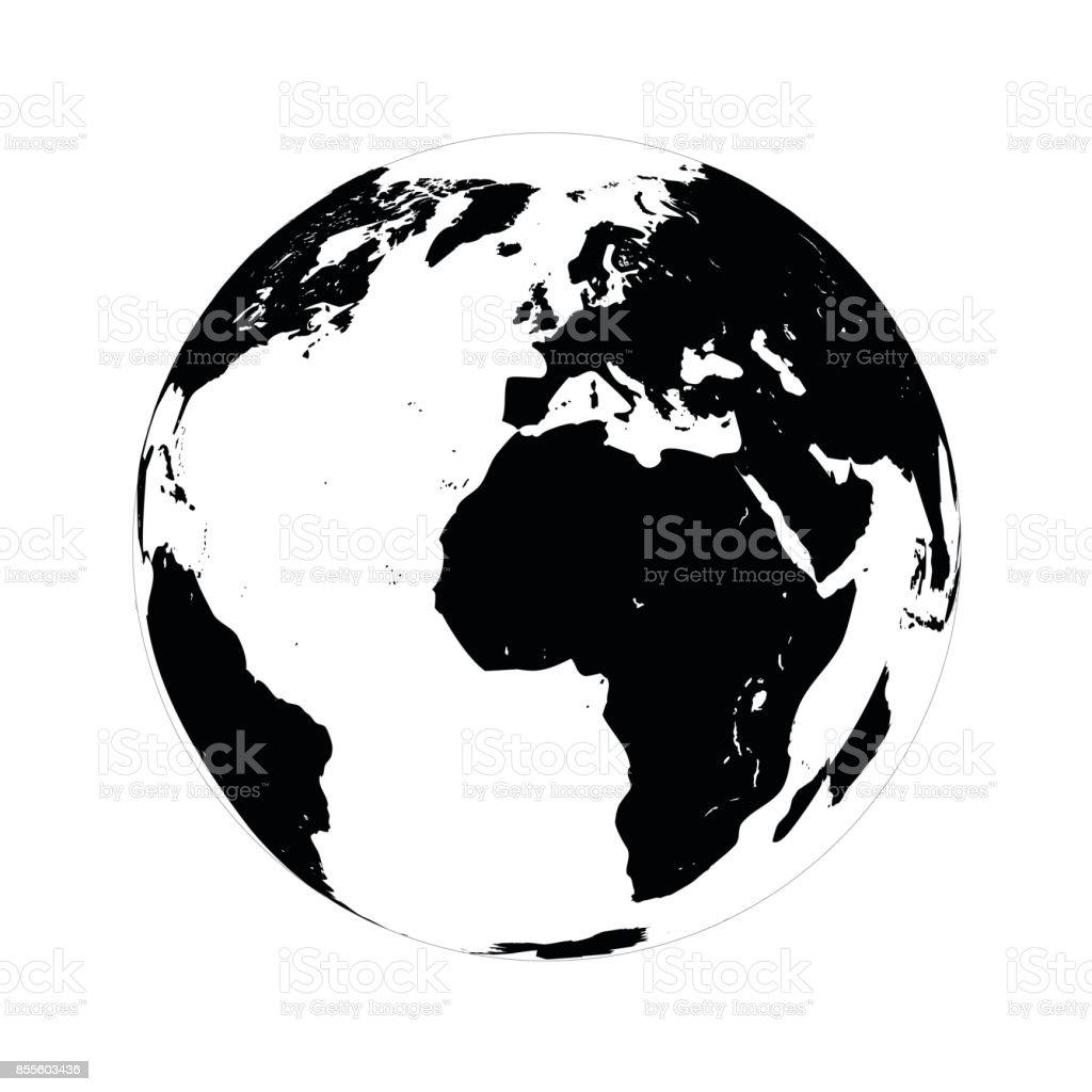simple black globe vector illustration on white background stock rh istockphoto com globe vectoriel free arrow globe vector art