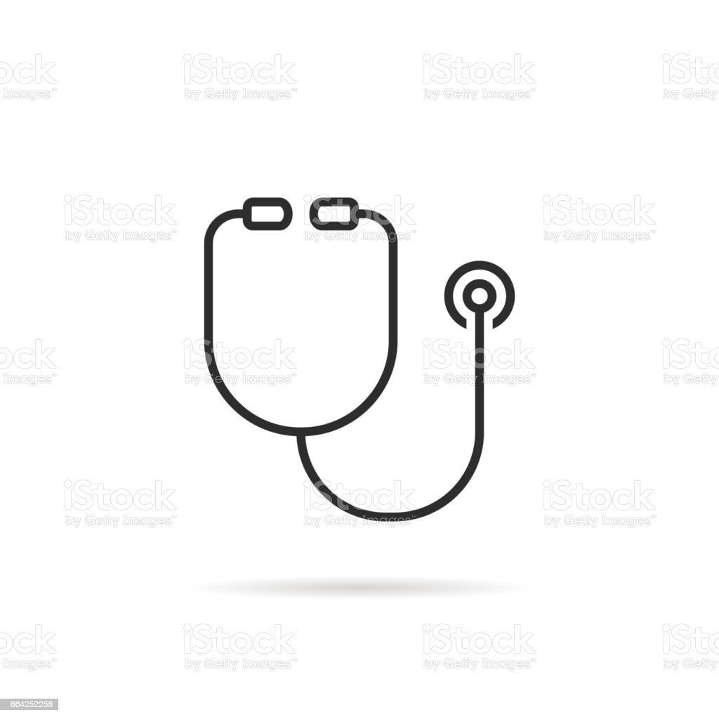 simple black thin line stethoscope icon royalty-free simple black thin line stethoscope icon stock vector art & more images of assistance