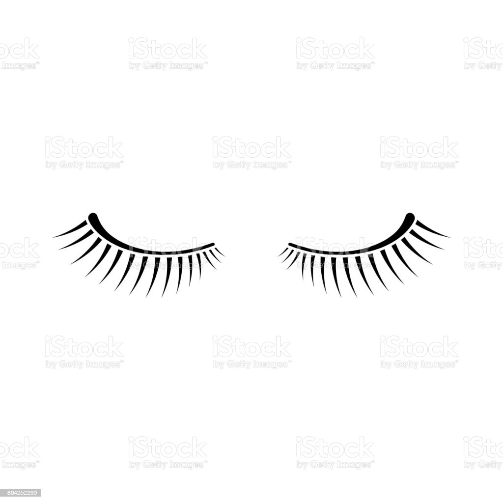 simple black two eyelashes icon on white background royalty-free simple black two eyelashes icon on white background stock vector art & more images of abstract